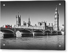 Westminster Bridge Acrylic Print by Melanie Viola