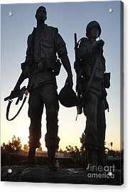 Westminster California Vietnam War Memorial - 05 Acrylic Print by Gregory Dyer