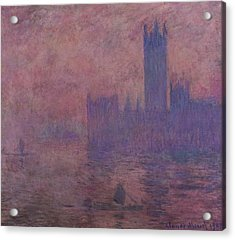 Westminster Tower Acrylic Print by Claude Monet