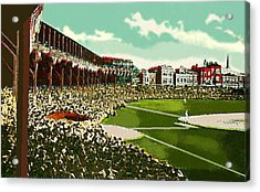 Westside Park Baseball Stadium In Chicago Il In 1914 Acrylic Print by Dwight Goss