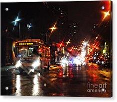 Wet City 4 Acrylic Print by Sarah Loft