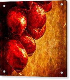 Wet Grapes Three Acrylic Print by Bob Orsillo