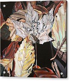 Wet Leaves Acrylic Print by Anthony Mezza
