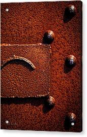 Wet Rust Acrylic Print by Bob Orsillo