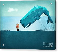 Whale Acrylic Print by Mark Ashkenazi
