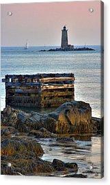 Whaleback Lighthouse Acrylic Print by Brett Pelletier