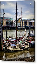 Wharf Ships Acrylic Print by Heather Applegate
