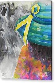 What Lies Ahead Series....chaos  Acrylic Print by Chrisann Ellis