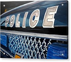 Whatcha Gonna Do When They Come For You? Acrylic Print by Julie Brugh Riffey