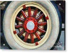Wheel Of 1930 Dodge Da 6 Acrylic Print by George Atsametakis