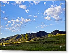 When Clouds Meet Mountains Acrylic Print by Angelina Vick