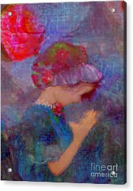 When Emmy Prays Acrylic Print by Deborah Montana