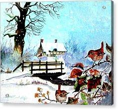 When It Snows Acrylic Print by Farah Faizal
