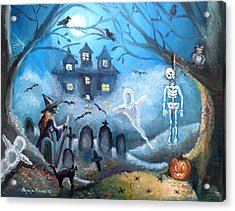 When October Comes Acrylic Print by Shana Rowe Jackson
