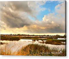 When The Rain Stopped Over Gray Lodge Acrylic Print by Artist and Photographer Laura Wrede