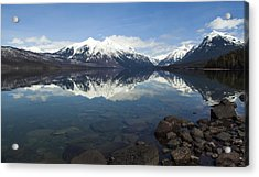 When The Sun Shines On Glacier National Park Acrylic Print by Fran Riley