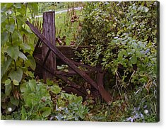 Where An Old Plow Rests  Acrylic Print by Jeff Swan