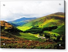 Where Is Soul Flying. Wicklow Mountains. Ireland Acrylic Print by Jenny Rainbow