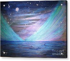 Where The Sky Meets The Sea Acrylic Print by Betty and Kathy Engdorf and Bosarge