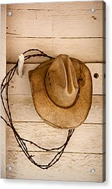 Wherever I Lay My Hat Acrylic Print by Peter Tellone