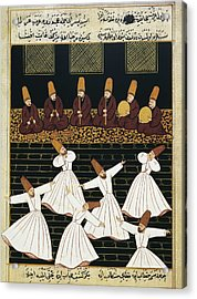 Whirling Dervishes 16th C.. Ottoman Acrylic Print by Everett