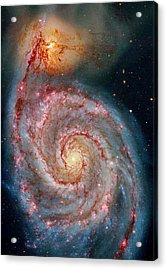 Whirlpool Galaxy In Dust Acrylic Print by Benjamin Yeager