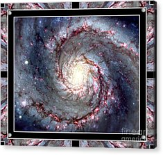 Whirlpool Galaxy Self Framed Acrylic Print by Rose Santuci-Sofranko