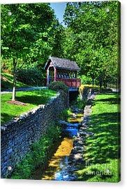 Whisky Creek Bridge Acrylic Print by Mel Steinhauer