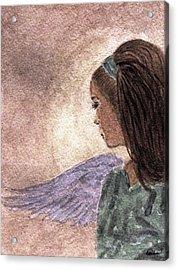 Whisper Of Wings Acrylic Print by Angela Davies