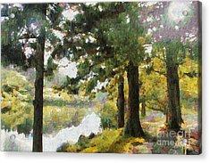 Whisper Through The Trees Acrylic Print by Gee Lyon