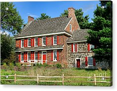 Whitall House Acrylic Print by Olivier Le Queinec