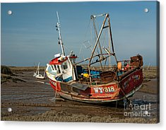 Whitby Crest At Brancaster Staithe Acrylic Print by John Edwards