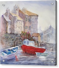 Whitby Harbour Acrylic Print by Mohamed Hirji
