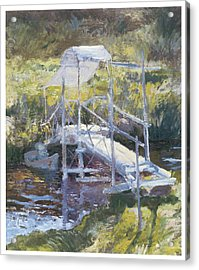White Bridge Acrylic Print by John Twachtman