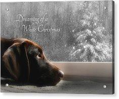 White Christmas Acrylic Print by Lori Deiter