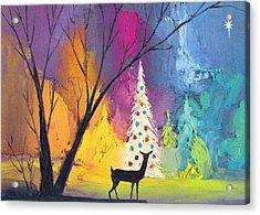 White Christmas Tree Acrylic Print by Munir Alawi