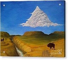 White Cloud Acrylic Print by John Lyes