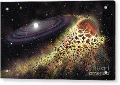 White Dwarf Shredding A Planet Acrylic Print by Lynette Cook