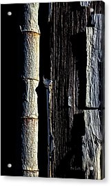 White Hinge On The Old Red Barn Acrylic Print by Bob Orsillo