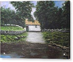 White O' Morn Cottage Acrylic Print by Robert Gary Chestnutt