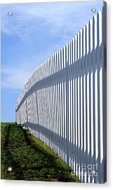 White Picket Fence Acrylic Print by Olivier Le Queinec