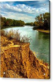 White River Erosion Acrylic Print by Julie Dant
