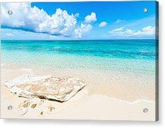 White Sand Acrylic Print by Chad Dutson