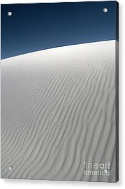 White Sands New Mexico Dune Abstraction Acrylic Print by Gregory Dyer