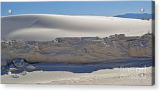 White Sands New Mexico Sand Dune Crumble Acrylic Print by Gregory Dyer
