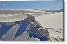 White Sands New Mexico Sand Rift Acrylic Print by Gregory Dyer