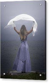 White Shawl Acrylic Print by Joana Kruse