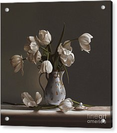 White Tulips Acrylic Print by Larry Preston