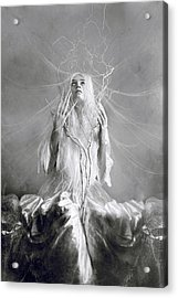 White Witch Acrylic Print by Cambion Art