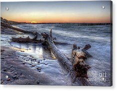 Whitefish Point Sunset Acrylic Print by Twenty Two North Photography